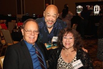 LVHS Class of 1960 alumni Russ Chang and Ricki Kline with Becki Lewis, attend the 2015 37th Anniversary - Annual Wildcat Reunion at The Orleans Hotel and Casino in Las Vegas, NV on September 26, 2015. Photo by Lia Chang