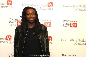 2014-2015 DG Fellow James A. Tyler attends the 2014-2015 DG Fellows Presentation at Playwrights Horizons in New York on October 19, 2015. Photo by Lia Chang