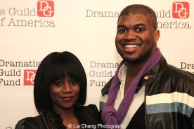 Gisela Adisa and Larry Owens at the 2014-2015 DG Fellows Presentation at Playwrights Horizons in New York on October 19, 2015. Photo by Lia Chang