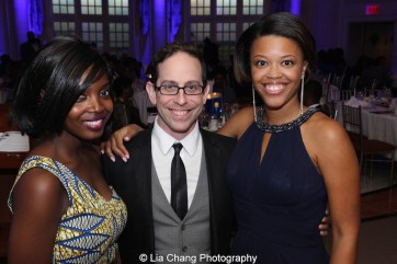 MaameYaa Boafo, Garth Kravits and Alana Barrett-Adkins at the 30th anniversary benefit gala of Beth-Hark Christian Counseling Center, Inc. at Terrace on the Park in Flushing Meadows Park, NY on October 9, 2015. Photo by Lia Chang
