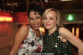 2015 Steinberg Playwright Award winner Dominique Morisseau and Geneva Carr attend the 2015 Steinberg Playwright Awards on November 16, 2015 in New York City. Photo by Lia Chang