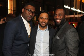 Kwame Kwei-Armah, Jason Dirden and Wendell Franklin attend the 2015 Steinberg Playwright Awards on November 16, 2015 in New York City. Photo by Lia Chang