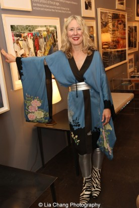 Juliet Cuming Shaw at the opening reception of Tiger Morse by Mark Shaw: Jet Set Style Quest, 1962 at The Liz O'Brien Gallery in New York on November 3, 2015. Photo by Lia Chang