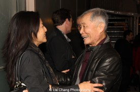 Tamlyn Tomita and George Takei. Photo by Lia Chang