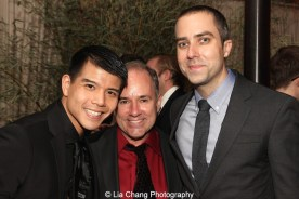 Telly Leung, Stephen Flaherty and James Babcock. Photo by Lia Chang