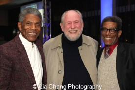 André De Shields with Dennis Zacek and director Chuck Smith at the 27th Annual Awards for Excellence in the Arts Gala held in the Atlantic Ballroom of the Radisson Blue Aqua Hotel in Chicago on November 9, 2015. Photo by Lia Chang