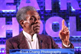 André De Shields accepts the 2015 Award for Excellence in the Arts at the 27th Annual Awards for Excellence in the Arts Gala held in the Atlantic Ballroom of the Radisson Blue Aqua Hotel in Chicago on November 9, 2015. Photo by Lia Chang