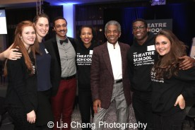 André De Shields with Theatre School students at the 27th Annual Awards for Excellence in the Arts Gala held in the Atlantic Ballroom of the Radisson Blue Aqua Hotel in Chicago on November 9, 2015. Photo by Lia Chang