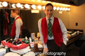 Garth Kravits in the dressing room at Bucks County Playhouse in New Hope, PA on December 16, 2015. Photo by Lia Chang