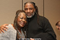 Ebony Jo-Ann and her son Kenneth Fagan. Photo by Lia Chang