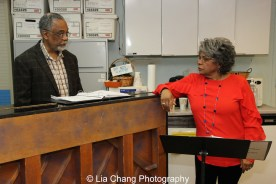 Musical Director William Foster McDaniel and Tina Fabrique. Photo by Lia Chang