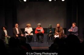 Julia Lema, William Foster McDaniel, Leslie Dockery, Tina Fabrique, Micki Grant, Erich McMillan McCall and James Morgan. Photo by Lia Chang