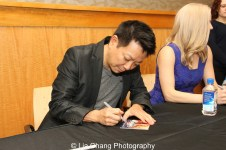 Jay Kuo signs the ALLEGIANCE Original Cast Recording at Barnes and Noble in New York on February 5, 2016. Photo by Lia Chang