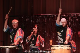 NY Taiko Kai Drummers at the P.S. 87 Pan Asian Lunar New Year Celebration at the William T Sherman School in New York on January 29, 2016. Photo by Lia Chang