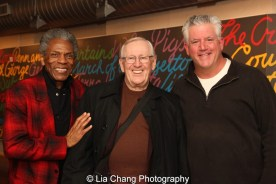 André De Shields, Len Cariou and Gregory Jbara. Photo by Lia Chang