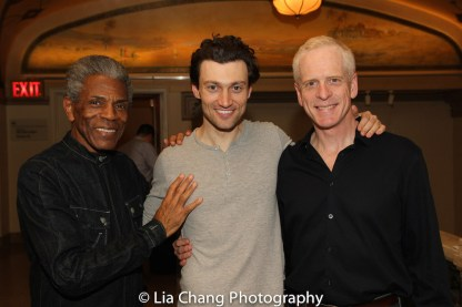 André De Shields, Bryce Pinkham and John Hickok. Photo by Lia Chang