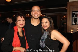 Jose Llana with his mother, Regina Tolentino Newport and his sister Patricia Llana. Photo by Lia Chang