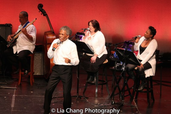 Anthony J. Mhoon, André De Shields, Kimberly Lawson and Donica Lynn. Photo by Lia Chang