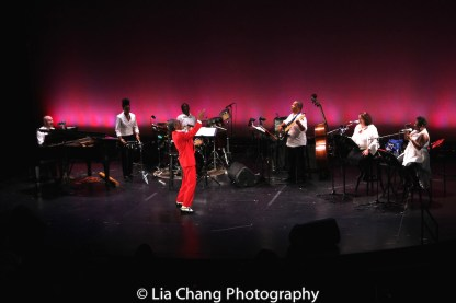 Doug Peck, Taylor Moore, Robert Reddrick, André De Shields, Anthony J. Mhoon, Kimberly Lawson and Donica Lynn. Photo by Lia Chang