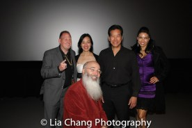 John Thomas, Lia Chang, Ric Meyers, Peter Kwong and Crystal Santos after the 30th Anniversary screening of BIG TROUBLE IN LITTLE CHINA at the 4th Annual Urban Action Showcase and Expo at the AMC Empire 25 Times Square in New York on November 12, 2016. Photo by Garth Kravits