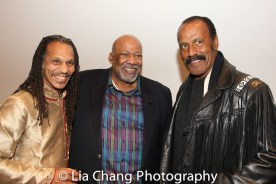 """Oso Tayri Casel, SAG-Aftra New York Local President Mike Hodge and Fred """"The Hammer"""" Williamson at the Cinemax® VIP Welcome Red Carpet Reception and UAS IAFF Awards at HBO in New York on November 11, 2016. Photo by Lia Chang"""