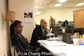 Assistant Director Awoye Timpo and Director Ruben Santiago-Hudson. Photo by Lia Chang