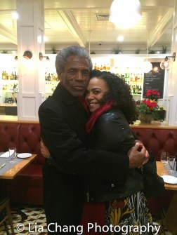 André De Shields and Rachel Leslie at the opening night celebration at Atelier Florian. Photo by Lia Chang