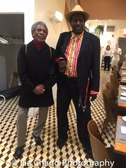 André De Shields and Sir Shadow at the opening night celebration at Atelier Florian. Photo by Lia Chang