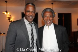 Danny Johnson and André De Shields at the opening night celebration at Atelier Florian. Photo by Lia Chang