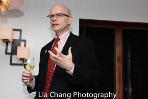 Yale Rep Artistic Director James Bundy at the opening night celebration at Atelier Florian. Photo by Lia Chang