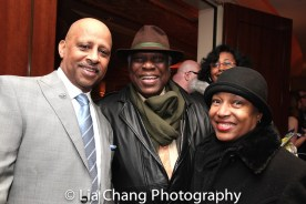 Ruben Santiago-Hudson, Woodie King Jr. and Elizabeth Van Dyke. Photo by Lia Chang