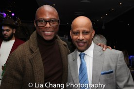 Erich McMillan McCall and Ruben Santiago-Hudson. Photo by Lia Chang