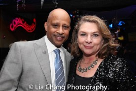 Ruben Santiago-Hudson and Constanza Romero. Photo by Lia Chang