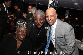 Ebony Jo-Ann, Deborah Joseph and Ruben Santiago-Hudson. Photo by Lia Chang