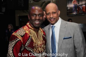 Gbenga Akinnagbe and Ruben Santiago-Hudson. Photo by Lia Chang