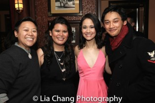 Tonilyn A. Sideco, Liz Casasola, Ali Ewoldt and Joshua Dela Cruz. Photo by Lia Chang