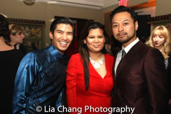 Christopher Vo, Liz Casasola and Billy Bustamante. Photo by Lia Chang