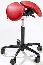Saddle seat office stool