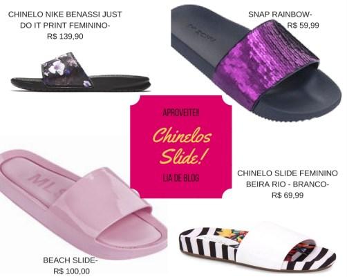 Chinelos Slides continuam fazendo sucesso neste verão 2018