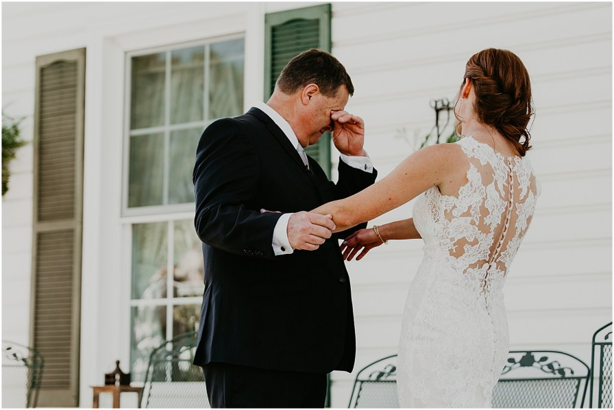 Private Estate Wedding in Virginia Wedding Photographer Father-Daughter first look