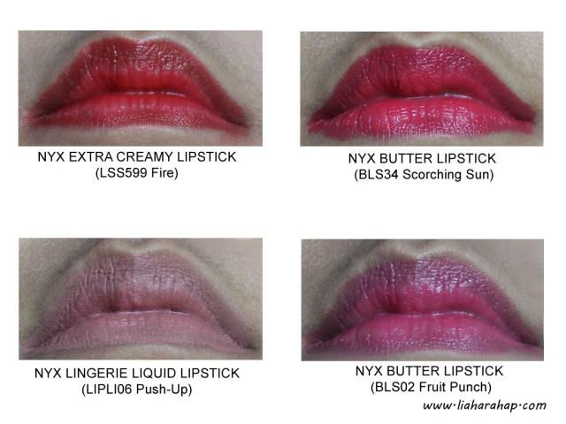 NYX Cosmetics Lipstick Swatch