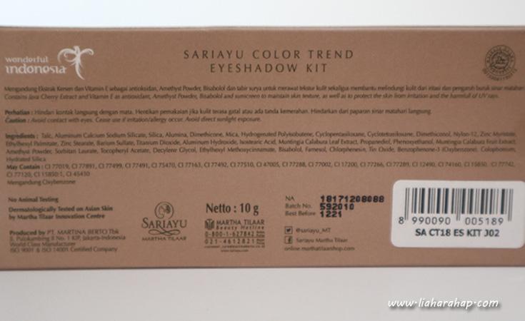 Sariayu Color Trend 2018