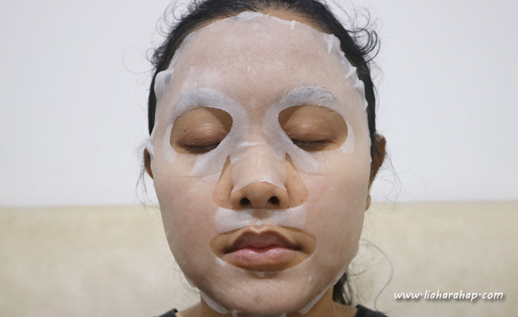 snp jade soothing ampoule mask