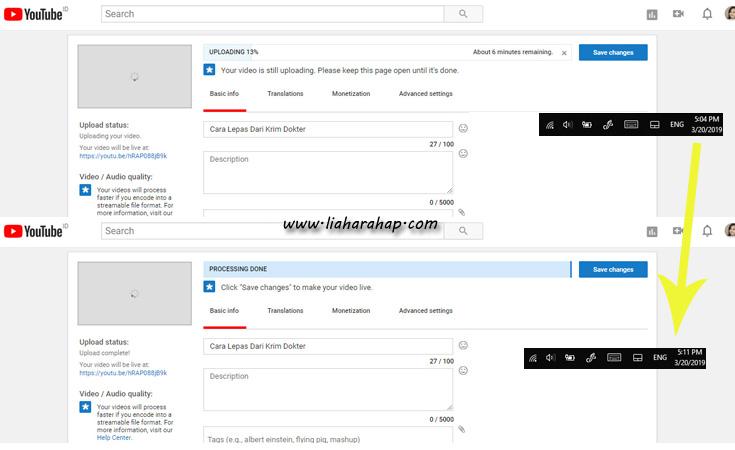 upload youtube melalui modem