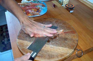 Espinacas con gambon