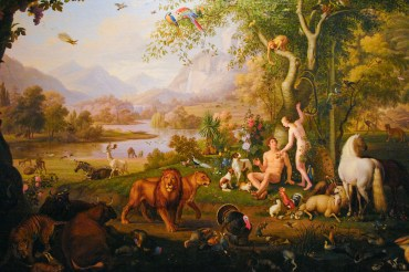 """""""Adam and Eve in the Earth paradise"""" by Wenzel Peter, XIX century. Held in Vatican museums."""