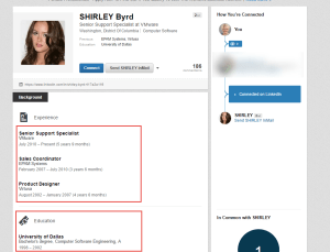 Linked In Connection Spam - Fake Profiles