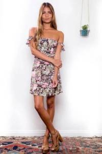 Flynn Skye Bardot Mini Dress