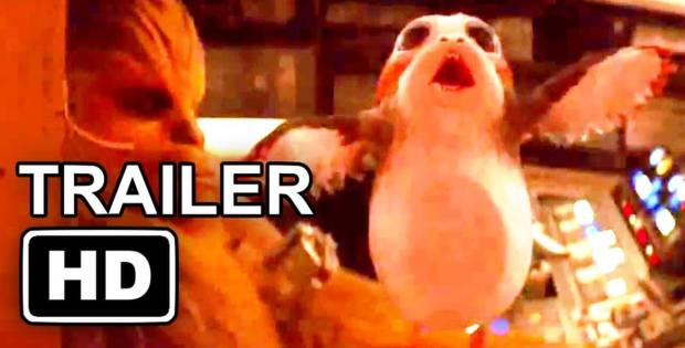 Porg on Board in Star Wars trailer