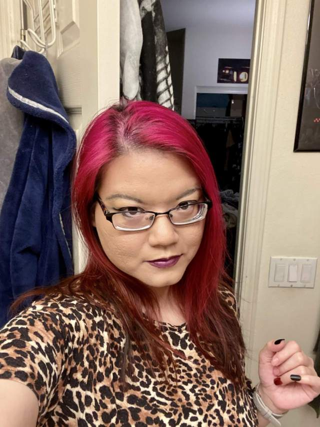My Pink hair with Punky Colour semi permanent color in Flamingo Pink (eye popping!)